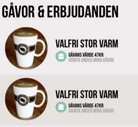 Gratis på Espresso House