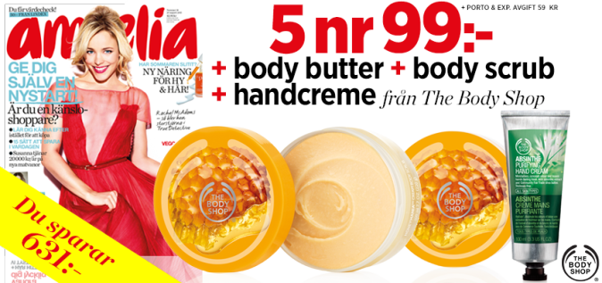 3 st The Body Shop-produkter på köpet