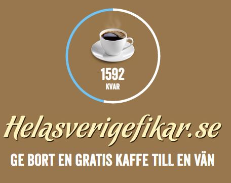 Ge bort gratis kaffe