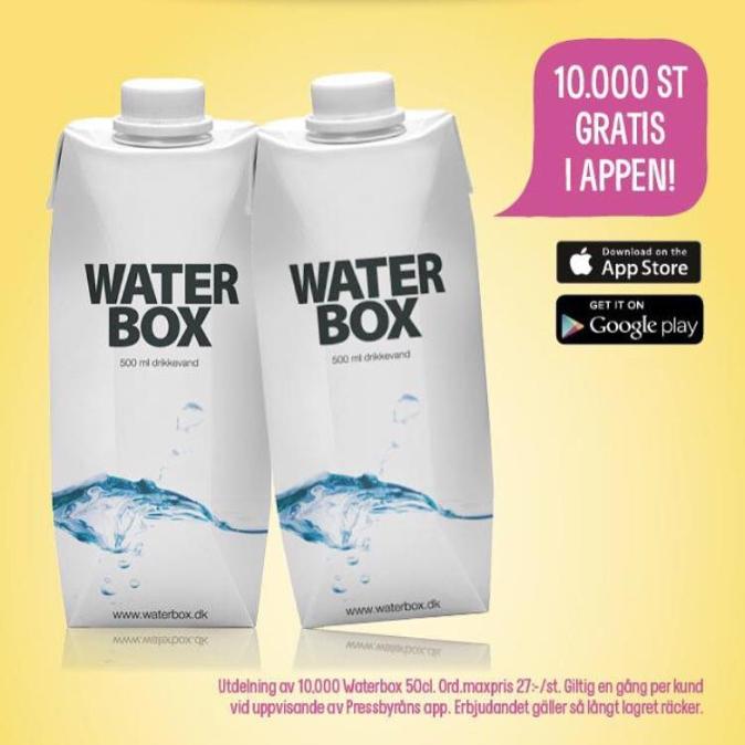 Gratis waterbox