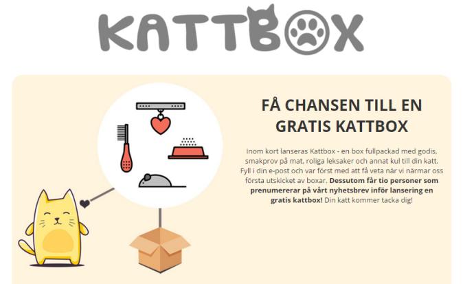 Gratis kattbox