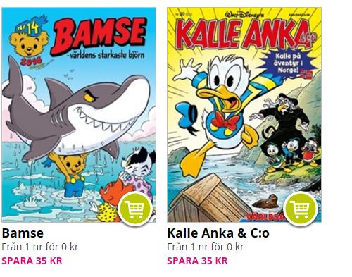 Gratisnummer av Bamse & Kalle