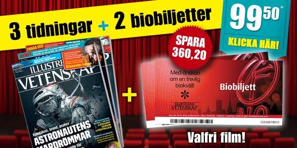 Två biobiljetter på köpet