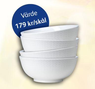 Rörstrand-skålar via Skånemejerier-kampanj