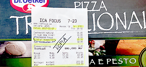 Gratis pizza till en kompis (vid köp)