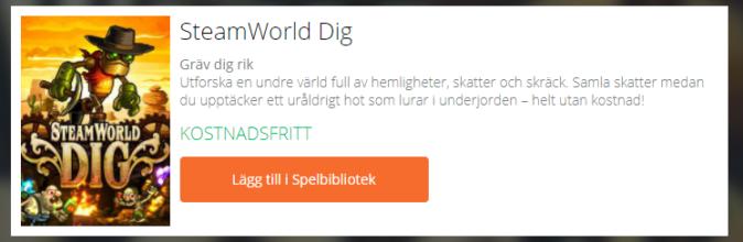 Gratis spel - SteamWorld Dig