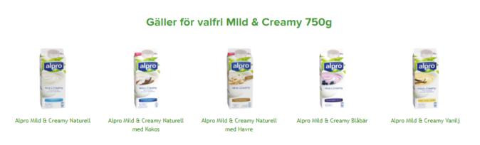 15 kr rabatt på Alpro yoghurt