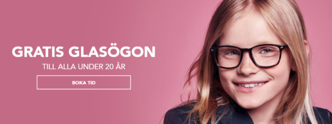 Gratis glasögon till barn under 20 år