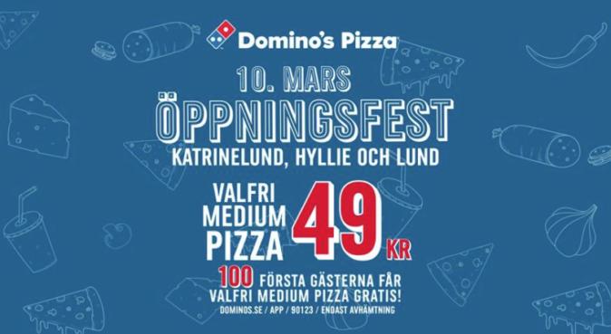 Gratis Domino's Pizza (Katrinelund, Hyllie, Lund)