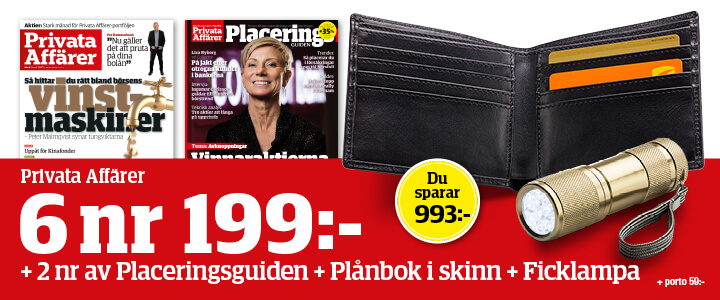 Tidningspremie: Plånbok och ficklampa