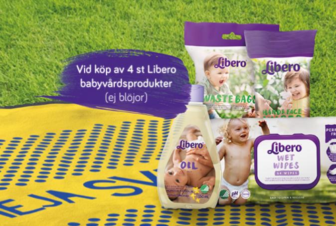 Samlarkampanj: Picknick-filt vid köp av 4 Libero-produkter