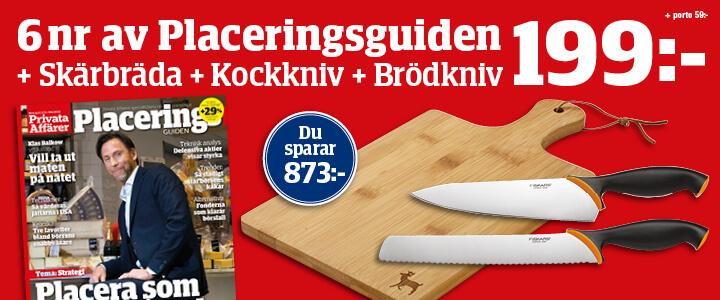 Tidningspremie: Skärbräda & 2 knivar på köpet utan extra kostnad