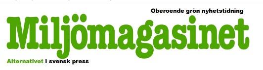 Gratis provnummer av tidningen Miljömagasinet