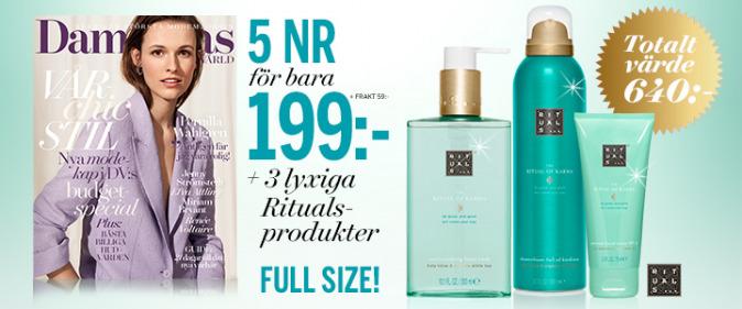Tidningspremie: 3 Rituals produkter på köpet