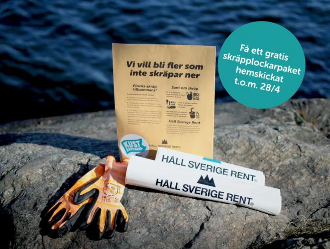 Gratis skräpplockarpaket via Kusträddarnas kampanj