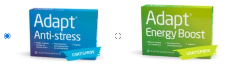 Gratis varuprov på Adapt Anti-Stress eller Energy Boost